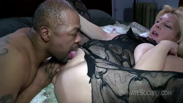 Slutty blonde mature is turning her sexual fantasies into reality with a handsome, black guy Xnxx blonde