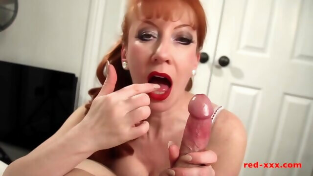 Busty British redhead MILF Red riding a cock Xnxx amateur